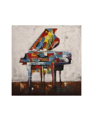 TABLEAU PEINT PIANO A QUEUE