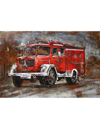 DECO MURALE CAMION pompier relief