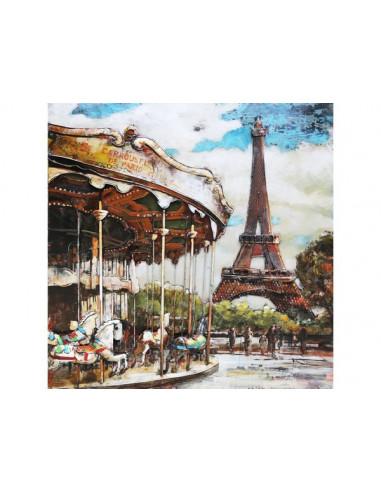 TABLEAU METAL CARROUSEL DE PARIS relief