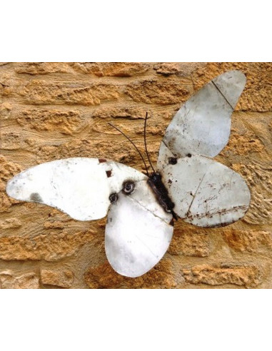 ART MURAL papillon blanc