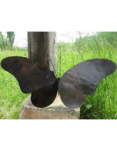 ART MURAL papillon bronze