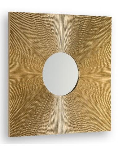 MIROIR GOLD - 80 X 80 CM